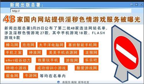 妞妞色情网_48家国内网站提供淫秽色情游戏服务被曝光