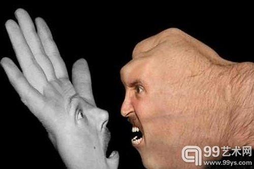 黑底人体艺术_身体激发自由的想象 人体器官的另类艺术颠覆视觉