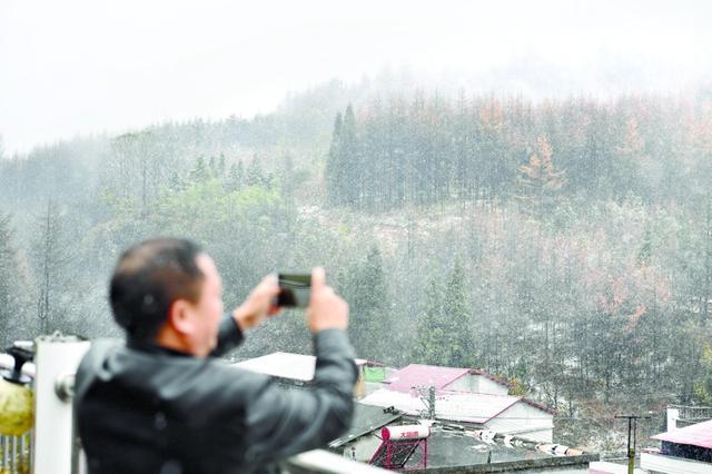 湖北多地飘雪迎立冬