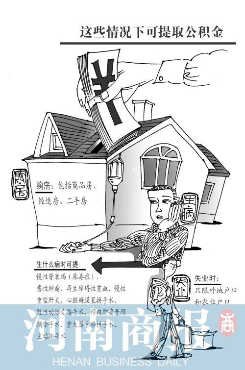 郑州市住房公积金_郑州实行大病提取住房公积金 直系亲属也可用_大豫网_腾讯网