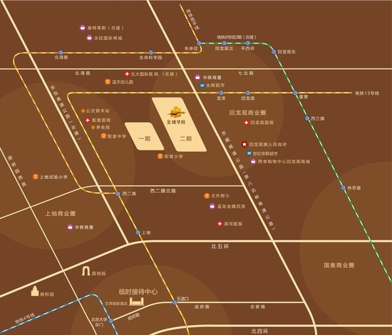 未來區域還將有多條主干道正在規劃建設中,包括京包高速,學清路北延圖片