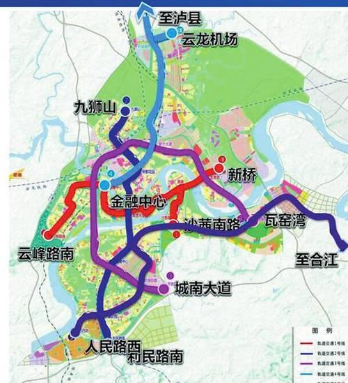 泸州5条轻轨线路敲定 最早一条2020年前开建