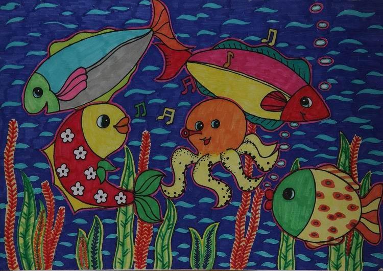 童画画大赛_《欢乐家园》 中国儿童环保教育计划暨中国儿童环保绘画大赛获奖作品