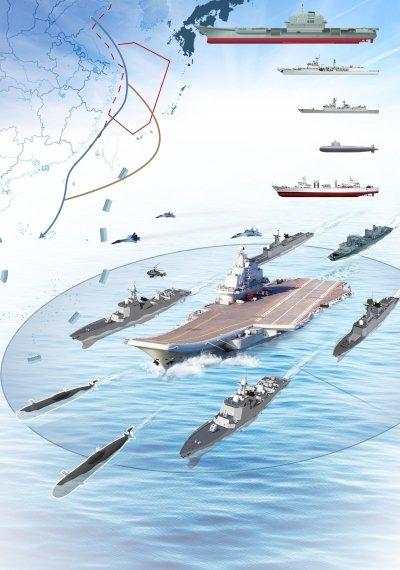 中国航母编队赴南海_中国航母编队首赴南海训练 仍缺核潜艇及补给舰_新闻_腾讯网