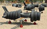 废旧轮胎这么玩:鲁美毕业富二代做飞机坦克