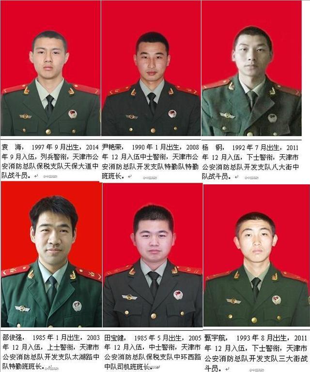 天津爆炸事故最年轻牺牲消防员不足18岁(图)