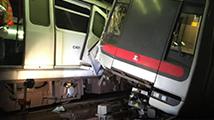 香港两列地铁测信号期间相撞