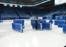 Speed and grace: An Olympic ice rink transition in under two hours
