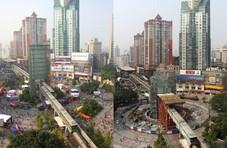 重庆网红建筑要没了 城铁穿楼玻璃塔月底前拆完
