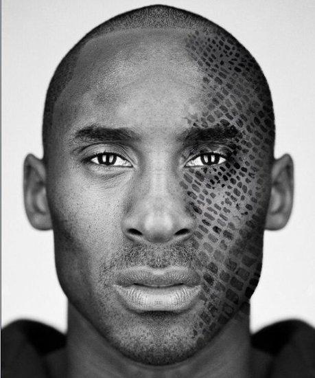 PS_科比将在脸上纹身 网友送ps蛇皮神图