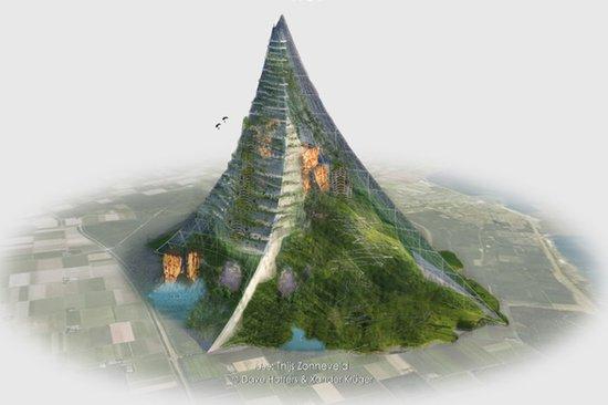 荷兰建筑师准备在30年内建两千米人造高山