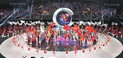 天津举办全国残运会暨第七届特奥会开幕式