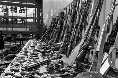 陕西集中销毁枪爆物品