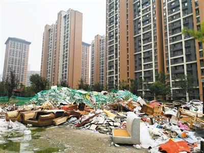 高新区木塔南苑小区 垃圾堆积如山蚊蝇乱飞