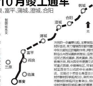 西安至韩城城际铁路将于2023年10月竣工通车